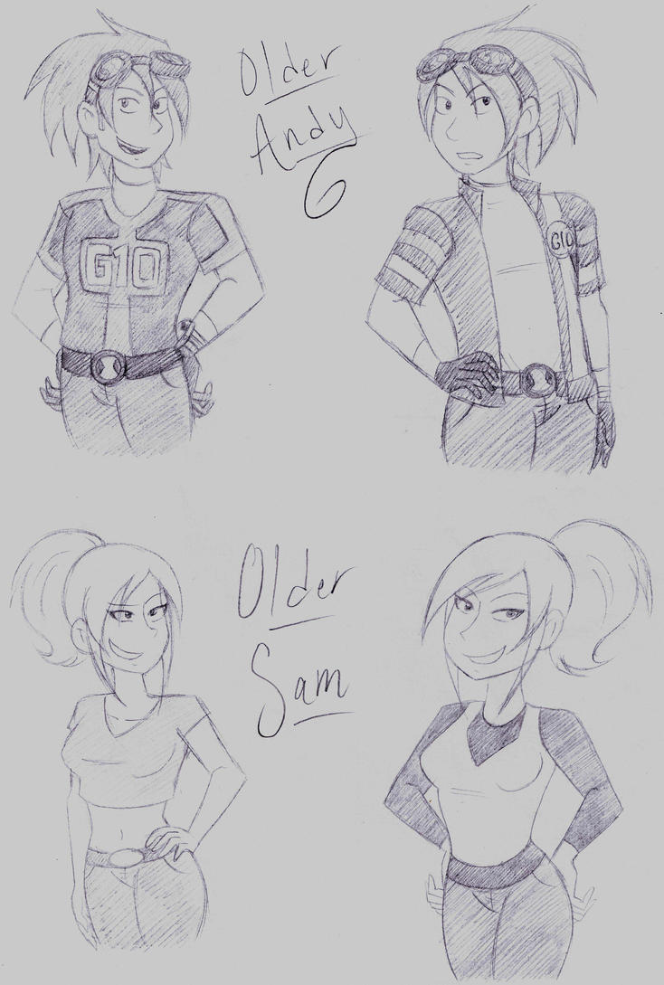 Older Andy and Sam sketcheroos by dreamer45