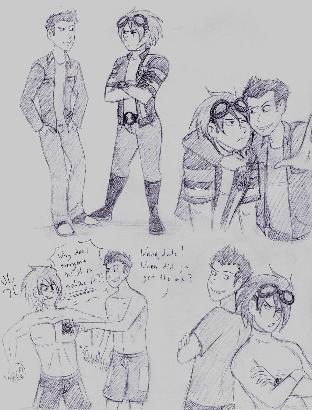 Older Andy and Dean doodles by dreamer45