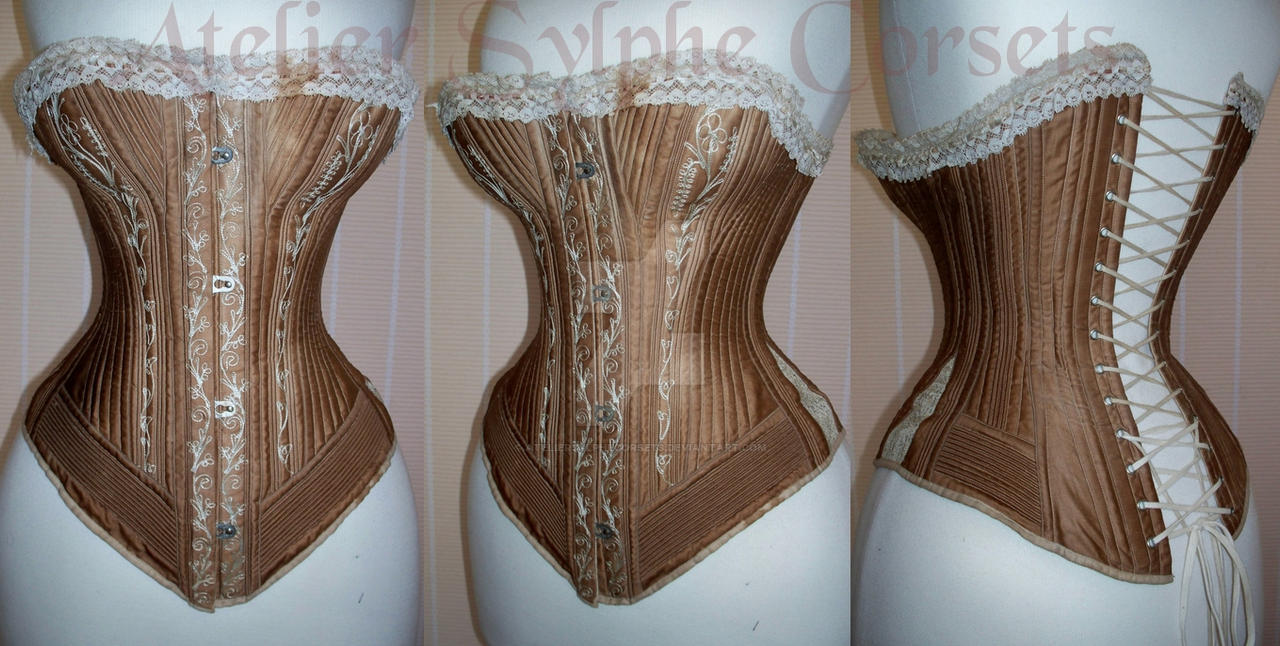 Antique  corset by AtelierSylpheCorsets