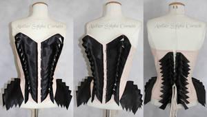 black nude overbust corset