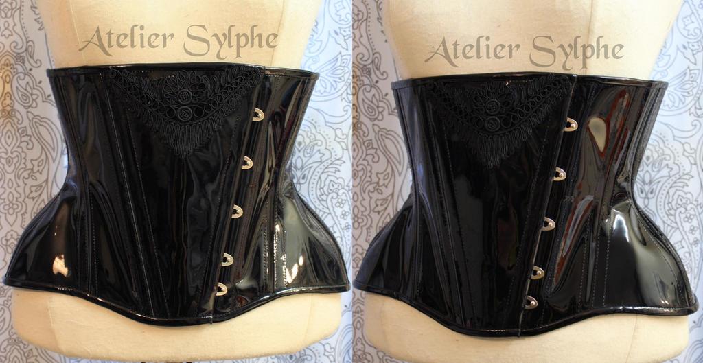 Wholesale Black Patent Leather Corset