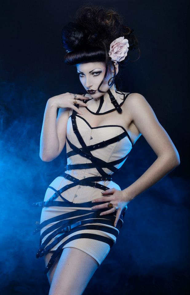 Overbust neck collar and strap skirt Atelier Sylph by AtelierSylpheCorsets