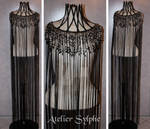 cord and pearl neck corset dress