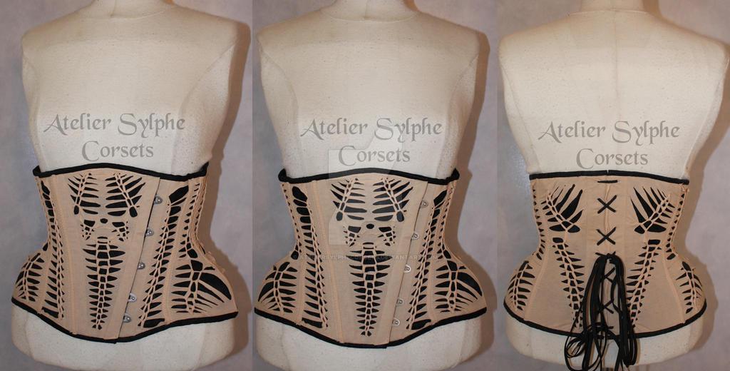 dfdeebb5c8 Species Underbust corset atelier Sylphe handmade by AtelierSylpheCorsets ...