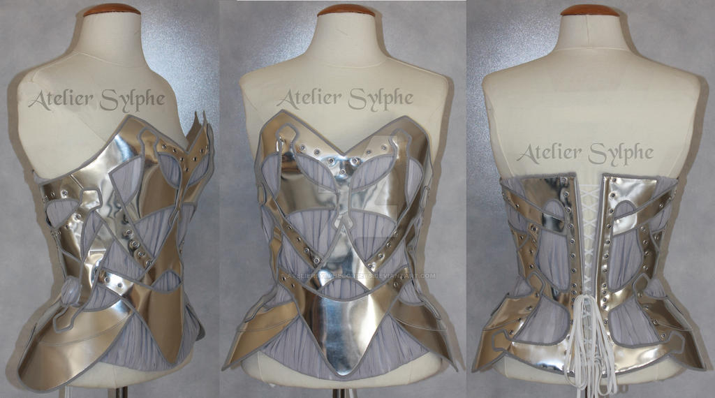 Sylver leather corset atelier Sylphe handmade by AtelierSylpheCorsets