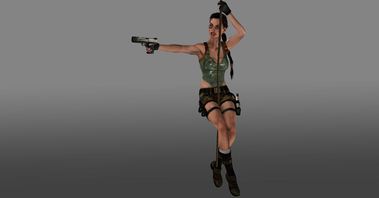 Tomb Raider rope pose by ArtiMuller