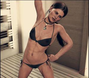 Lara bikini workout