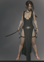 Tomb Raider Legend Tokyo dress (no toning) by ArtiMuller