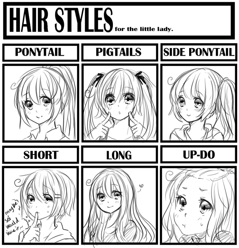 how to do an invisible part weave : Hair Styles Meme by sasucchi95 on DeviantArt