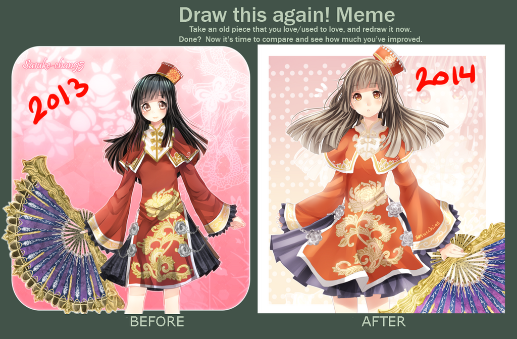 Da Qiao: before and after by sasuke-chan95