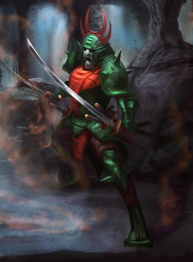 Sekhmet/Naaza in armor.
