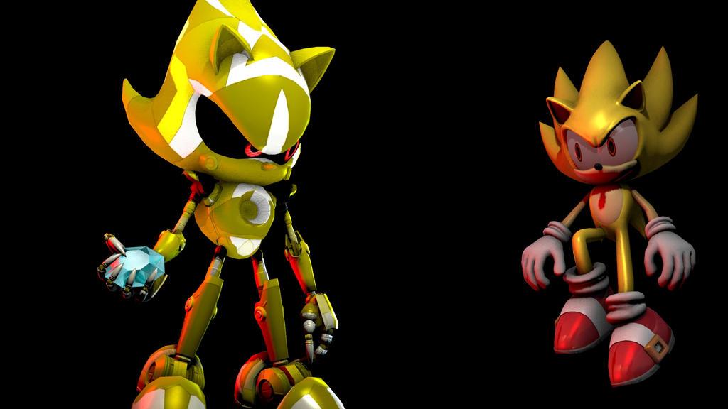 sfm] super metal sonic vs super sonic by arzeer on DeviantArt
