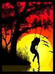 Slhouettes 1 - Girl on Swing
