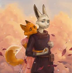Furry couple by MILMARI