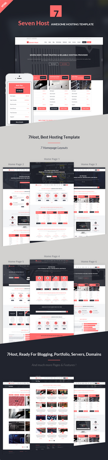 Seven Host - Hosting HTML Template