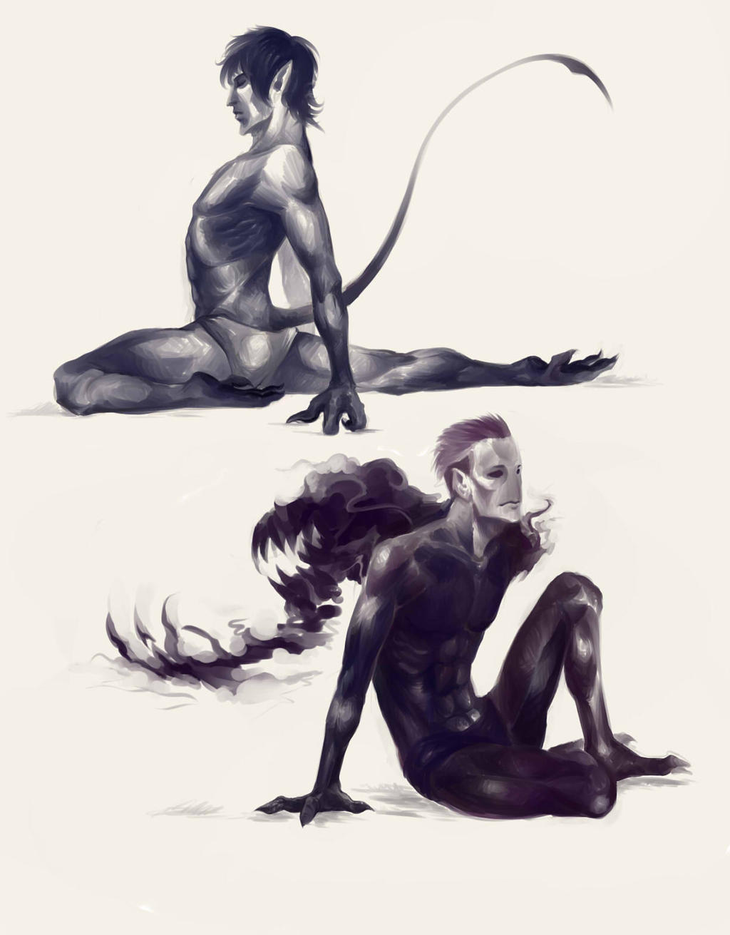 Nightcrawler and Abyss by ananovik