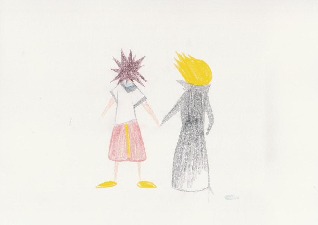 Namine's drawings - Sora+Roxas by Medi-EXE on DeviantArt