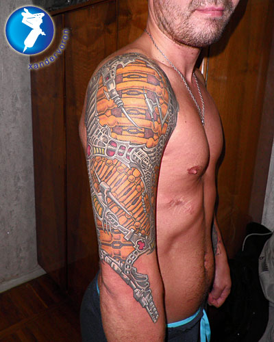 shoulder tattoo. Biomech Shoulder Tattoo by