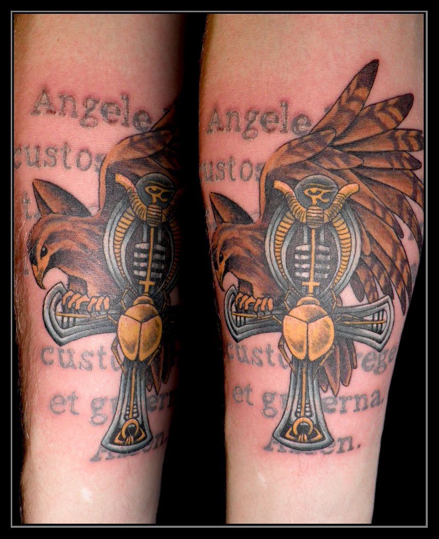 Falcon on the Ankh by xandervoron