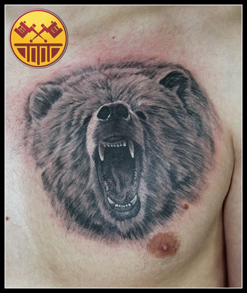 Traditional grizzly bear tattoo - photo#4