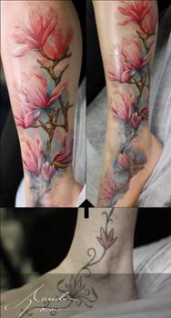 Magnolia color cover up