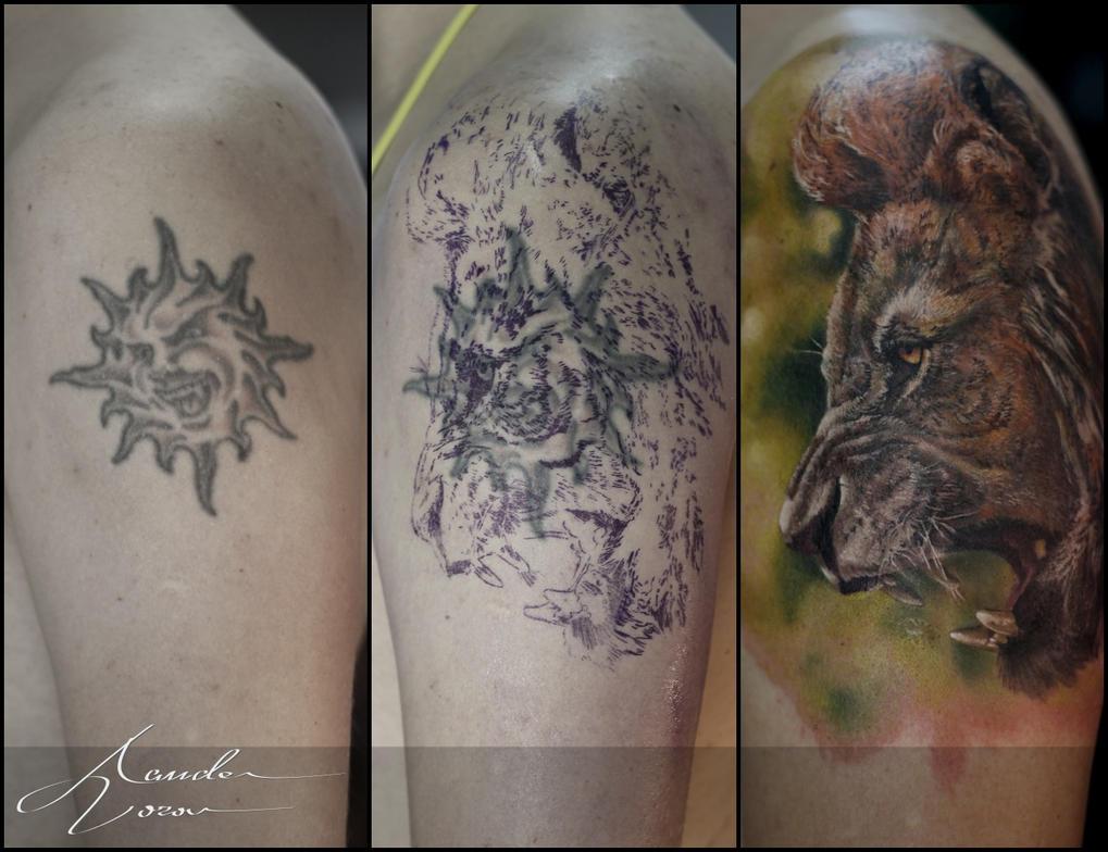 2015 - Nov / Lion cover up by xandervoron