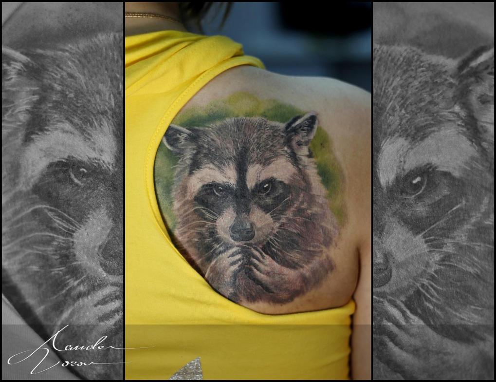 2015 - Nov / Raccoon by xandervoron