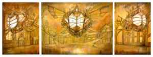 Steampunk triptych: La Fleur by Cinvira