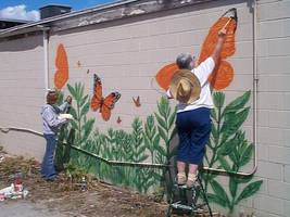Butterfly Mural Painting