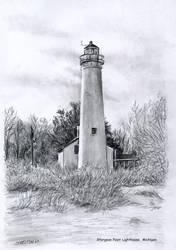 Sturgeon Point Lighthouse, MI by tunnelbrat
