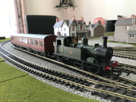 My new hornby 14xx with a Bachman autocoach