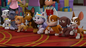 All the pups at the castle + trailer desc