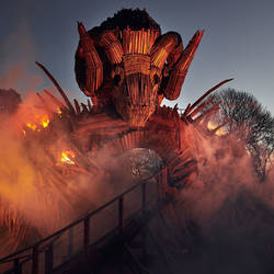 Havent ride: the wicker man rollercoaster