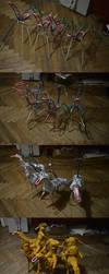 Four Horsemen of the Apocalypse. Progress steps by Sadania