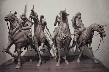 Four Horsemen of the Apocalypse 1 by Sadania