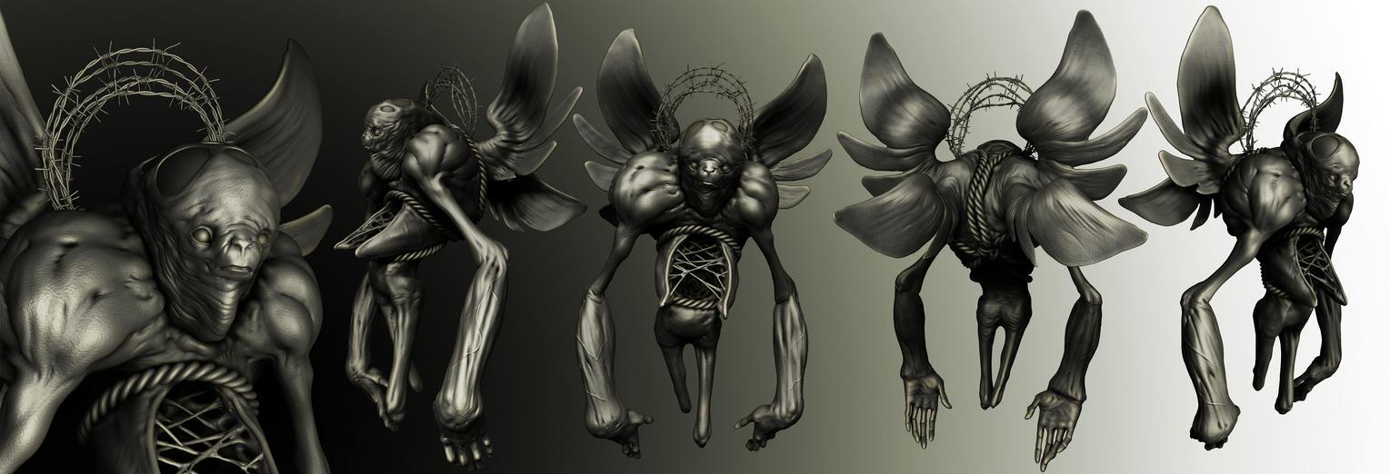 Angel figure by Sadania