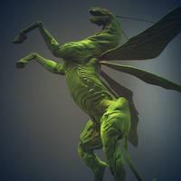 Grasshopper Horse 7 by Sadania