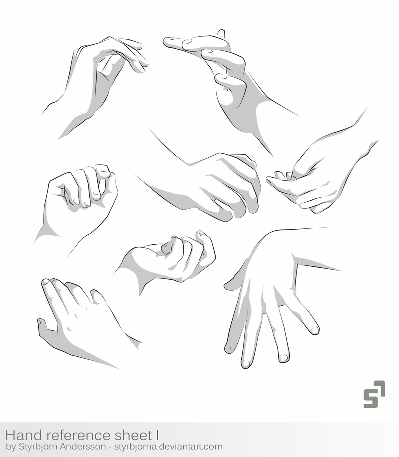 Hand Reference Sheet 1 - tutorial by StyrbjornA