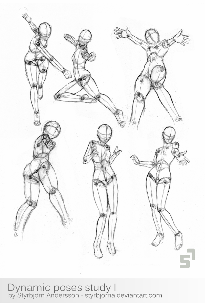 Dynamic Poses Study 1 by StyrbjornA