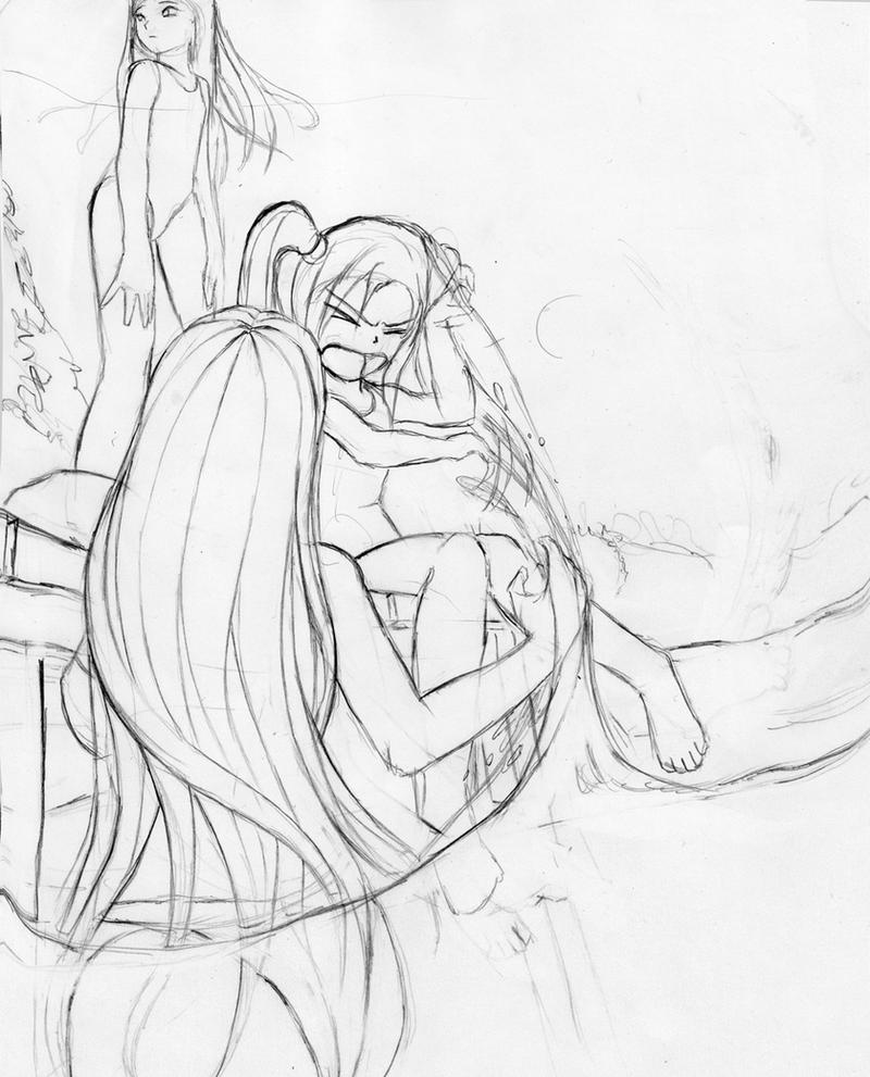 Sisters love sketch (WiP) by StyrbjornA on DeviantArt
