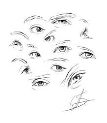 Eyes pencil practice by StyrbjornAndersson
