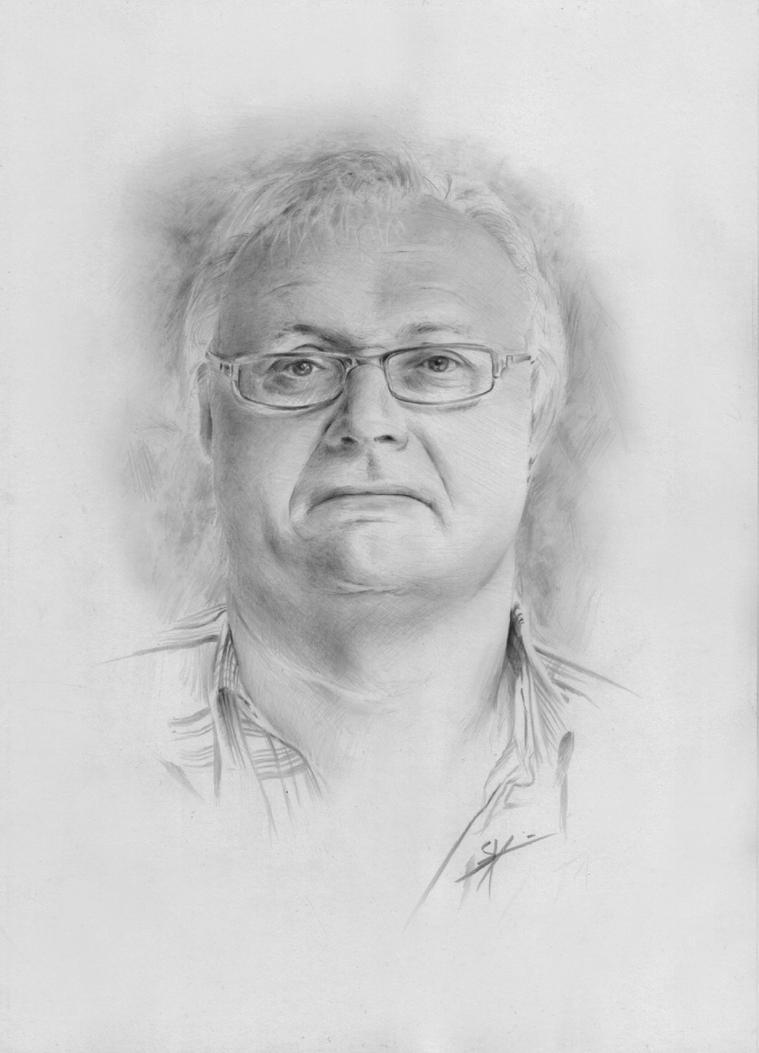 Portrait of my boss by StyrbjornA