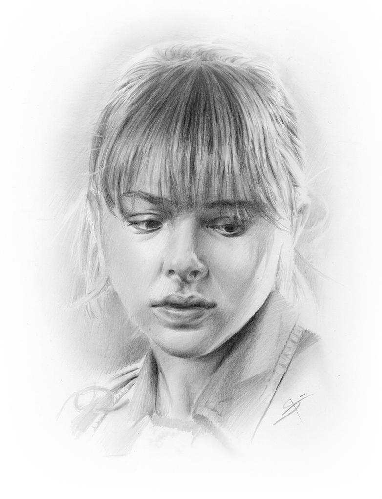 Chloe Grace Moretz - portrait by StyrbjornA