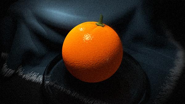 Orange on a plate by StyrbjornA