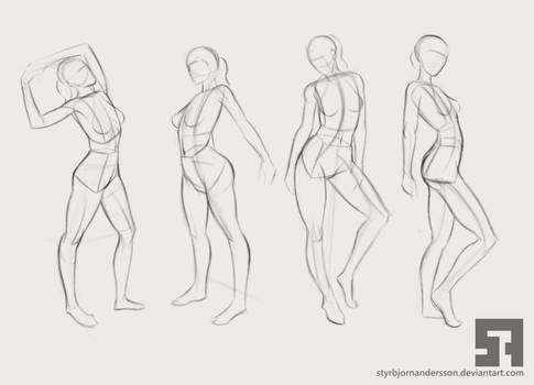 Exaggerated poses