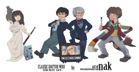 doctor who sticker set CLASSIC