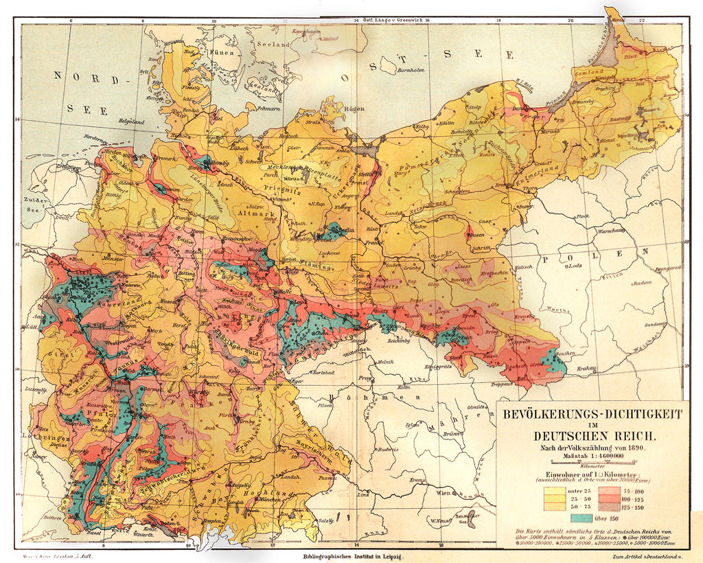 Population density German Empire 1890 by mrotsten on ...