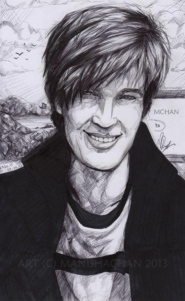 First drawing  of Pewdiepie / Felix Kjellberg by ManishaChan