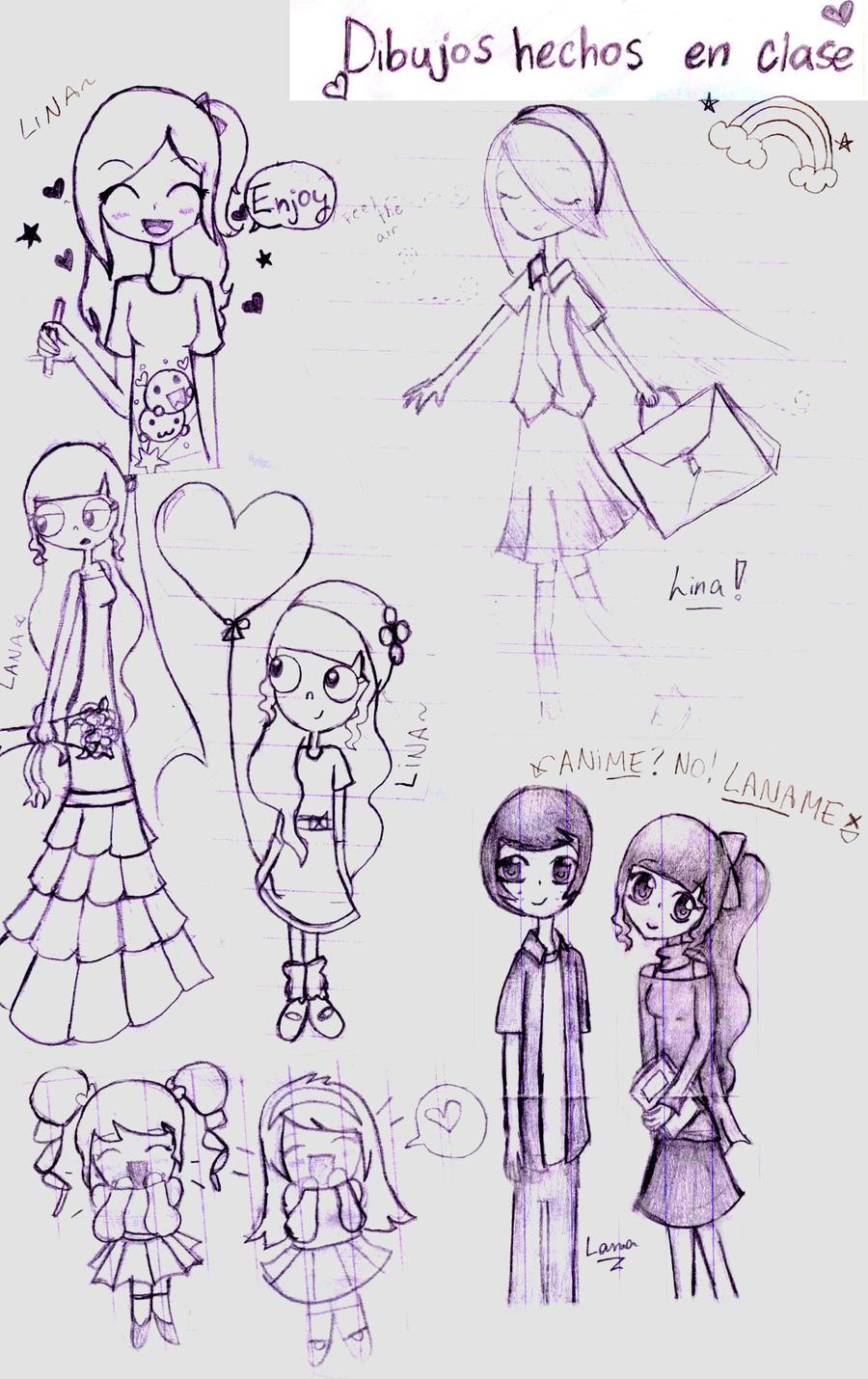 Dibujos en mi cuaderno de apuntes! by LanaFlynn