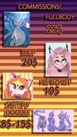 Commission prices by KirkeChan